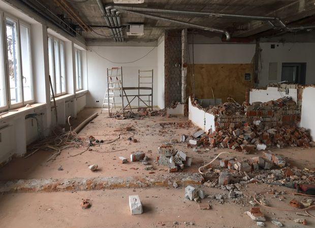 Abbrucharbeiten Obergeschoss